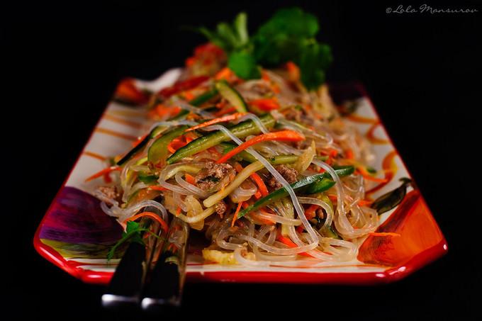 Салат фунчоза говядиной рецепт фото