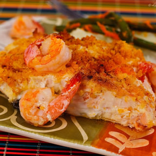 Baked Salmon Fillet Recipe with Bread Crumbs