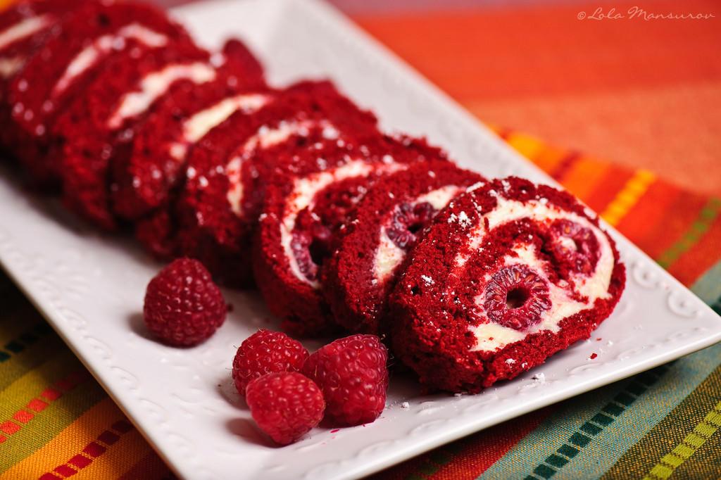 The Sweet Details: Baking Goal: Red Velvet Roll Cake