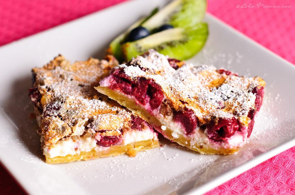 Cherry Cake In Pie Dish