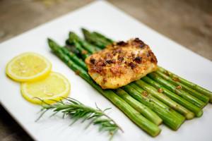 Biryani Cod With Asparagus